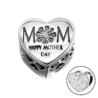 Herz-Mutter - 925 Sterling Silber jeweled Perlen - W10081X