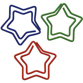 Paper Clips Carded Star Shaped 20 Pkg 24330