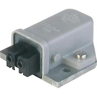 Mains connector ATT.LOV.SERIES_POWERCONNECTORS STAKAP Socket, vertical vertical Total number of pins: 2 + PE 16 A Grey