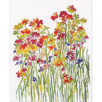 Blumen Aquarell gezählt Cross Stitch Kit-10.5