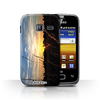 STUFF4 Case/Cover for Samsung Galaxy Y Duos/S6102/Treeline/Sunset Scenery