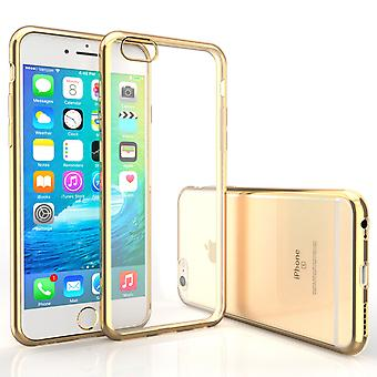 Caseflex iPhone 6 s 6 galvanische TPU Gel Case Gold