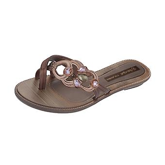Grendha Magia Thong Womens Flip Flops / Sandals - Bronze