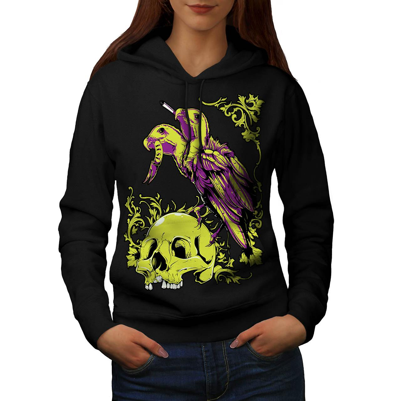 Scavenger Lust Crow Burial Land Women Black Hoodie | Wellcoda