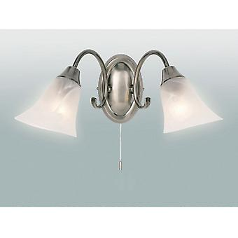 Endon 144-2AS 2 Light Wall Light In Antique Silver