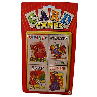 Card Games Donkey, Animal Snap, Snap And Old Maid