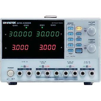 Bench PSU (adjustable voltage) GW Instek GPD-4303S 0 - 30 Vdc 0 - 3 A 195 W USB remote controlled No. of outputs 4 x