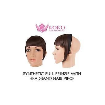 Synthetic Full Fringe With Headband Hair Piece