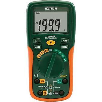 Handheld multimeter digital Extech EX205T Calibrated to: Manufacturer standards CAT III 600 V Display (counts): 2000