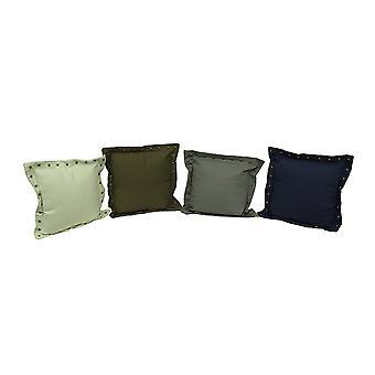 Set of 4 Stud Trim Decorative Throw Pillows