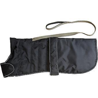 Sele hund Coat sort 35cm (14