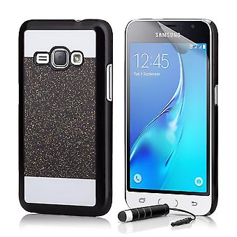Glitter case + stylus for Samsung Galaxy J5 (2015) SM-J500 - Black
