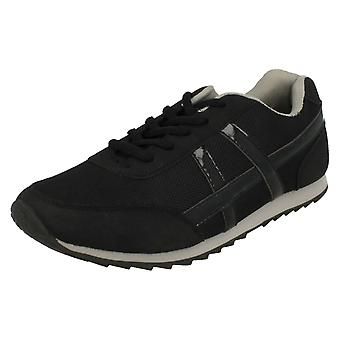 Ladies Spot On Flat Casual Lace Up Trainer F8981