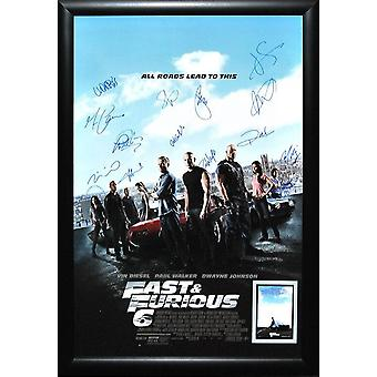 Fast and Furious 6 - Signed Movie Poster