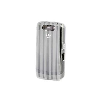 BlackBerry Storm 2 9550 High Gloss Silicone Case - Clear w/ Stripes (Bulk Packag