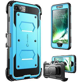 i-Blason-iPhone 7 Plus Case, [Armorbox] costruito nel paraurti caso-blu