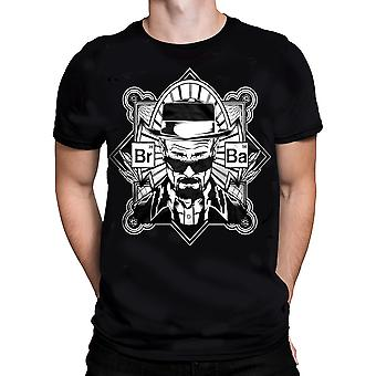 BREAKING BAD - Br-Ba Heisenberg T-Shirt - Black