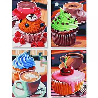 Schipper Schipper Quattro Paint By Numbers Cupcakes
