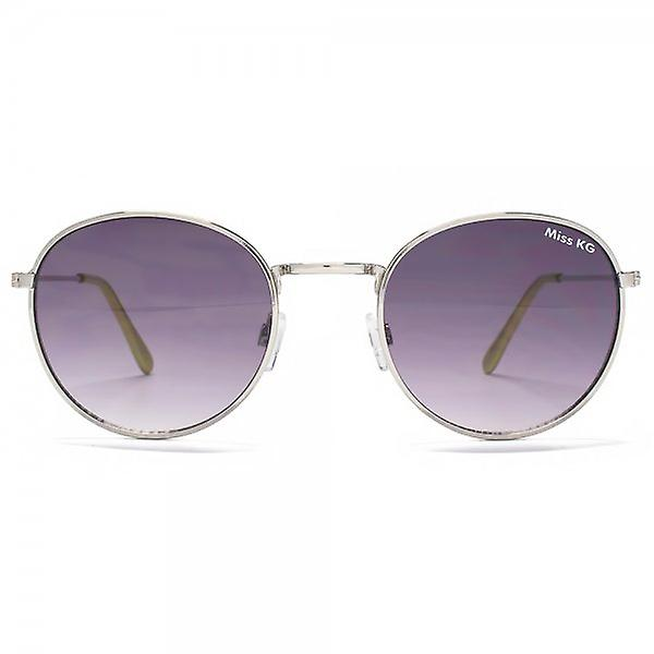 Miss KG Metal Round Sunglasses In Shiny Silver