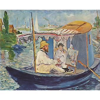 Edouard Manet - Claude Monet in Argenteuil Poster Print Giclee