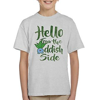Hello From The Oddish Side Pokemon Kid's T-Shirt