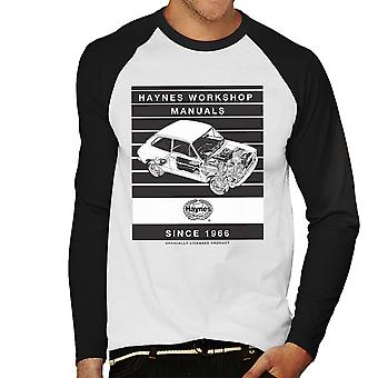 Haynes Workshop Manual 0173 Fiat 127 Stripe Men's Baseball Long Sleeved T-Shirt