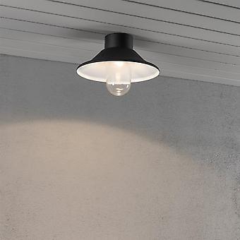 KONSTSMIDE Vega nero portico LED luce di soffitto