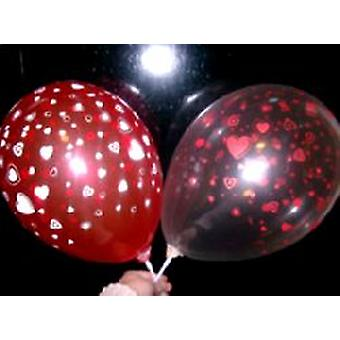 """Balloons Hearts Red And Cream Crystal 12"""""""