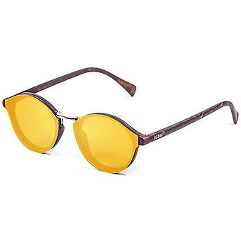 Ocean Loiret Flat Lense Sunglasses - Yellow/Brown