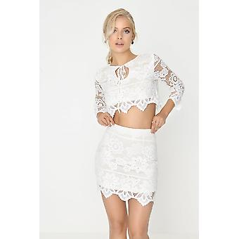 Girls on Film White Lace Co Ord