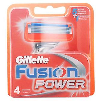 Gillette Fusion Power 4'S (mand, barbering, barberblade)