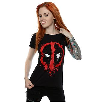 Verwonder u vrouwen Deadpool Splat gezicht T-Shirt