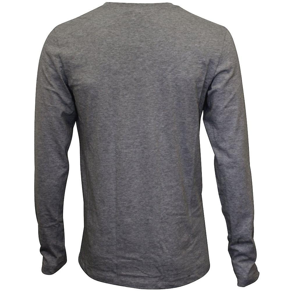 Hanro Living Jersey Long-Sleeve T-Shirt, Grey Melange