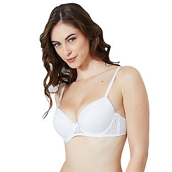 Guy de France 15041-2 Women's Michelle White Lace Padded Underwired Push Up Bra