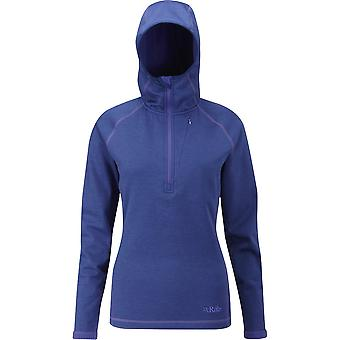 Rab Womens Nucleus Hoody Blue Print (UK Size 10)