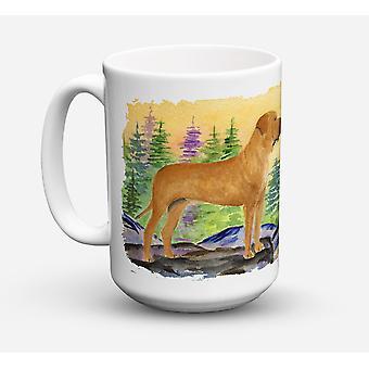 Tosa Inu Dishwasher Safe Microwavable Ceramic Coffee Mug 15 ounce