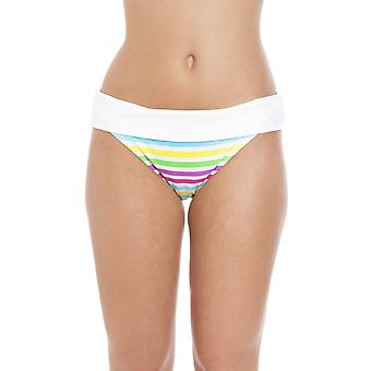 Camille Tutti Frutti Rollover Taille Bikini kurz weiß