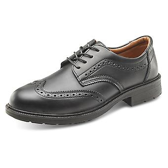 Click Managers Safety Brogue Shoe Black S1 Src - Sw2011