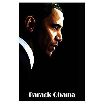 Impresión de póster de Barack Obama por H Abavista (13 x 19)