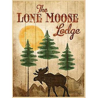 Lone Moose Poster Print by Mollie B (12 x 16)