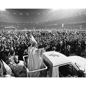 Papst Johannes Paul II besucht U.S. Yankee Stadion 1979 Poster Print von McMahan Foto-Archiv (10 x 8)