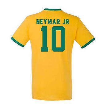 Neymar Brazil Ringer Tee (yellow)