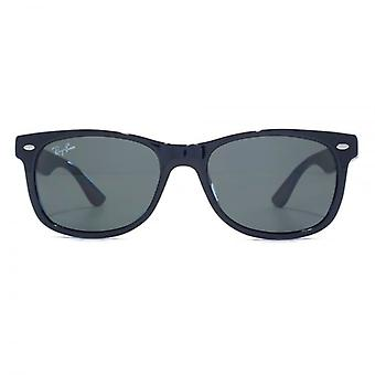 Ray-Ban Junior Wayfarer Sunglasses In Shiny Black Green