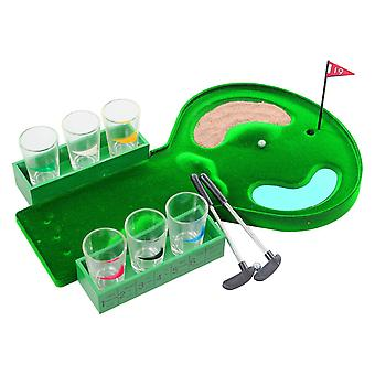 Classic Mini Golf 12 Piece Adult Drinking Pub Shot House Party Game