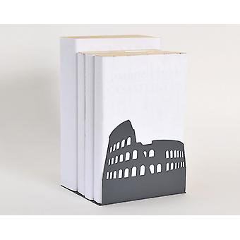 Dark Grey Colosseum Rome European Landmark Bookend