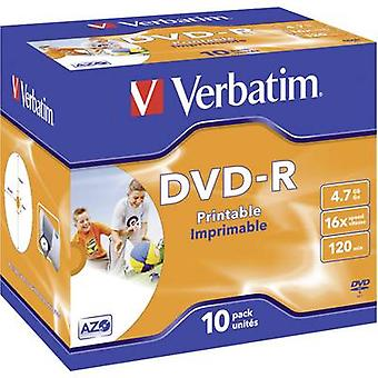 Blank DVD-R 4.7 GB Verbatim 43521 10 pc(s) Jewel c