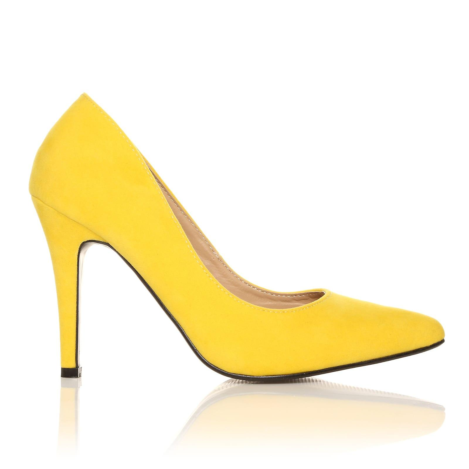 DARCY High Yellow Faux Suede Stilleto High DARCY Heel Pointed Court Shoes e8cc0e