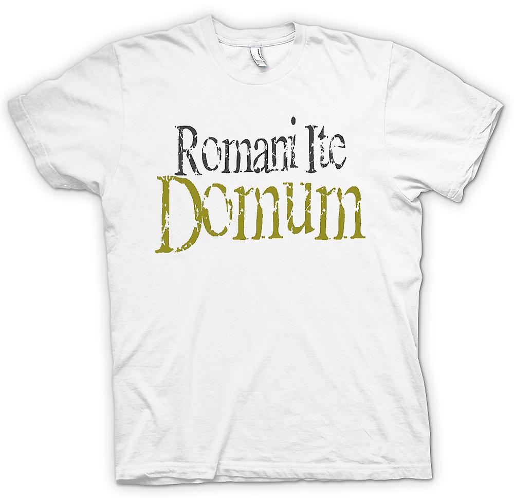 Womens T-shirt - Romani Ite Domum - Funny