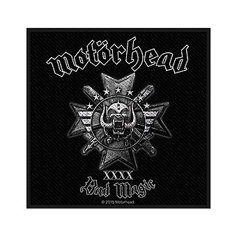 Motorhead Patch Bad Magic Band Logo Official New Black Cotton Sew On 10cm x 10cm
