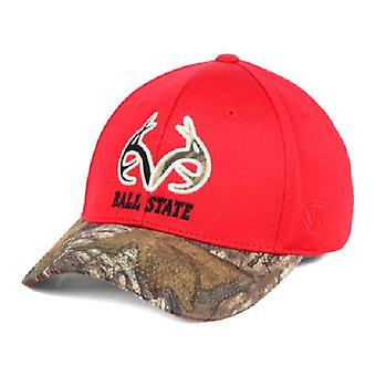 Ball State Cardinals NCAA TOW Region Camo Stretch Fitted Hat